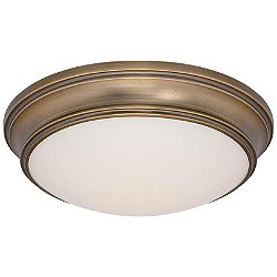 Astoria Flushmount by dweLED (Brushed Brass)-OPEN BOX RETURN