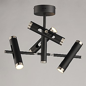 Black and Satin Nickel finish / illuminated