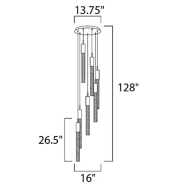 Alora LED Multi Light Pendant Light