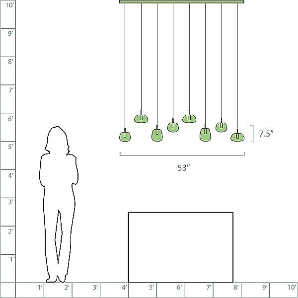 Nereza LED Linear Suspension Light