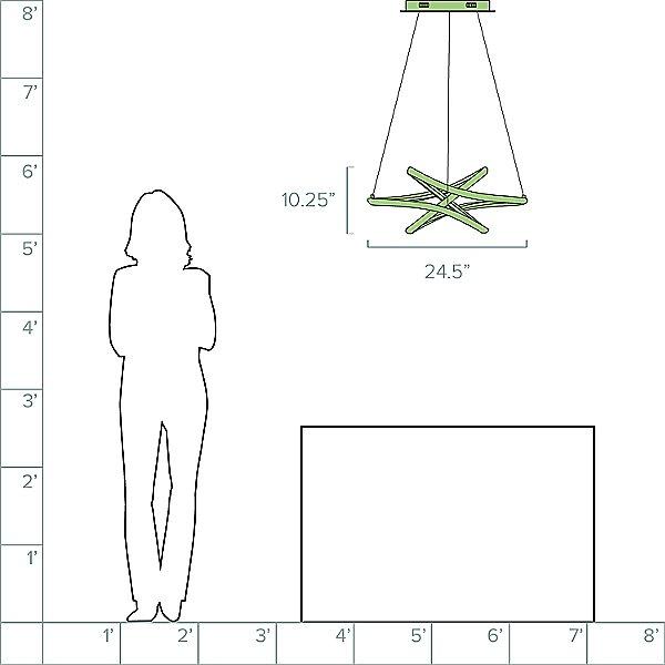 Zeta LED Pendant Light