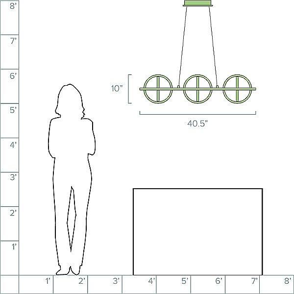 Cianna LED Linear Suspension Light