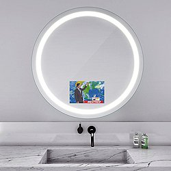 Eternity Lighted Mirror with Television