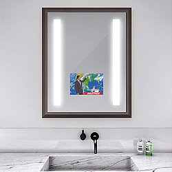Reflection Lighted Mirror with Television