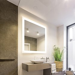 Silhouette LED Lighted Mirror with Keen Technology