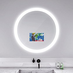 Trinity Lighted Mirror with Television