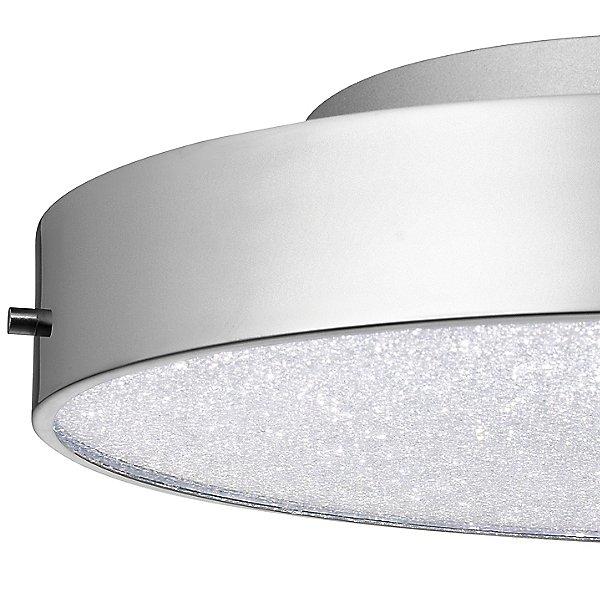 Crystal Moon LED Round Flush Mount Ceiling Light