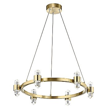 Shown in Champagne Gold finish, 6 Light