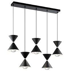 Kordan LED 5-Light Linear Suspension Light