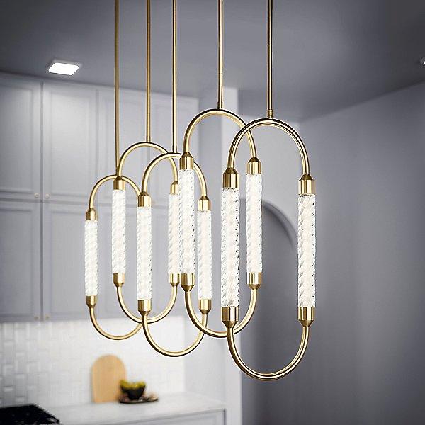 Delsey Linear LED Multi Light Pendant Light