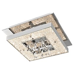 Crushed Ice Square LED Ceiling Light