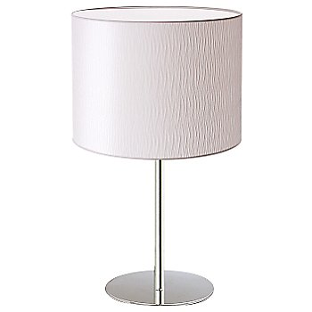 Shown unlit in Chrome finish, White Organza shade, Small size