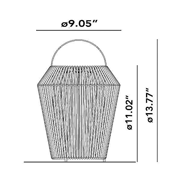 Koord KD.110 Portable Table Lamp