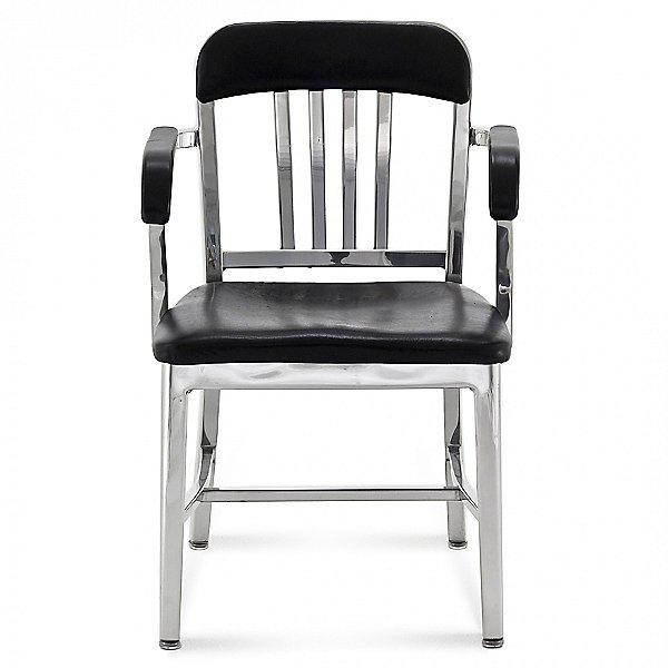 Navy Semi-Upholstered Armchair