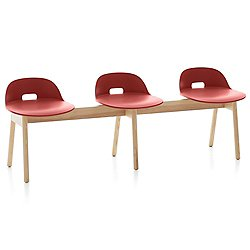 Alfi 3-Seat Bench, Low Back