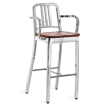 Cherry with Polished Aluminum frame finish/ Bar Height