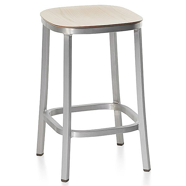 1 Inch Counter Stool, Wood Seat