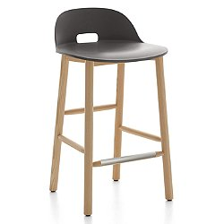 Alfi Stool, Low Back (Dark Grey/Ash) - OPEN BOX RETURN