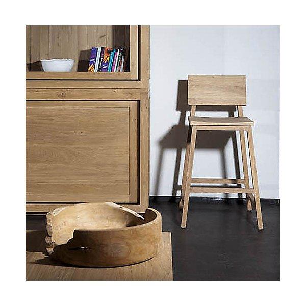 Oak N3 Kitchen Counter Stool