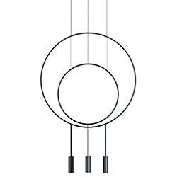 Revolta R40.1S1D Round Multi-Light Pendant Light