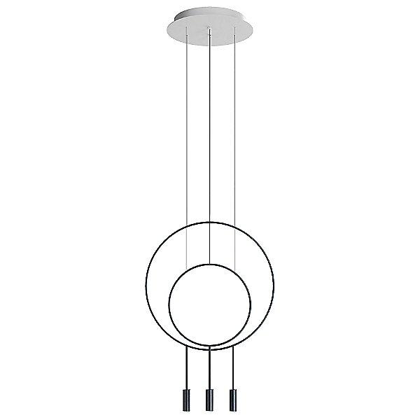 Revolta R40.1S1D Round Multi-Light Pendant Light