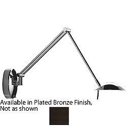 A-1136 Swingarm Wall Task Lamp (Plated Bronze) - OPEN BOX