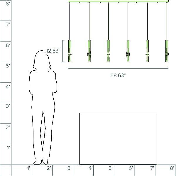 Flow LED Linear Suspension Light