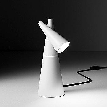Matte White Lacquer finish, illuminated