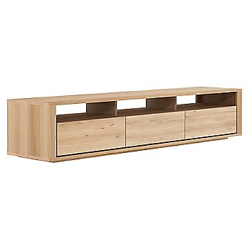 Oak Shadow TV Cupboard - 3 Drawers