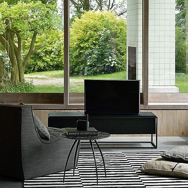 Oak Monolit TV Cupboard - 1 Drawer / 1 Flip-down Door