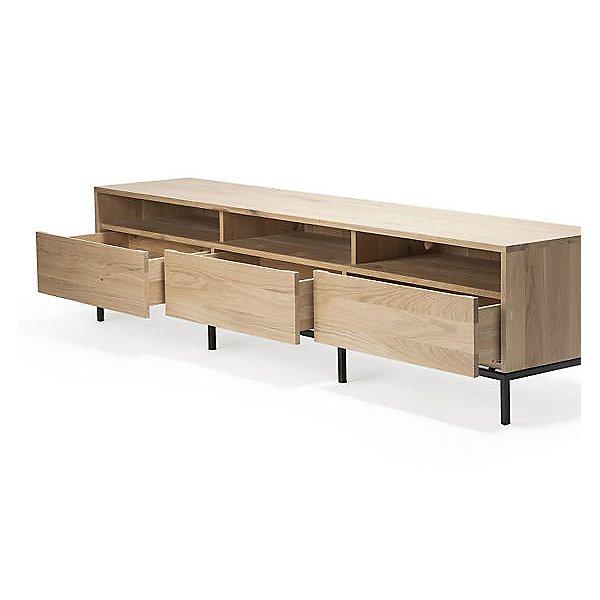 Oak Ligna TV Cupboard - 3 Drawers