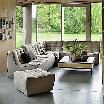 N701 Corner Sofa with N701 Sofa Ottoman and N701 3 Seater Sofa