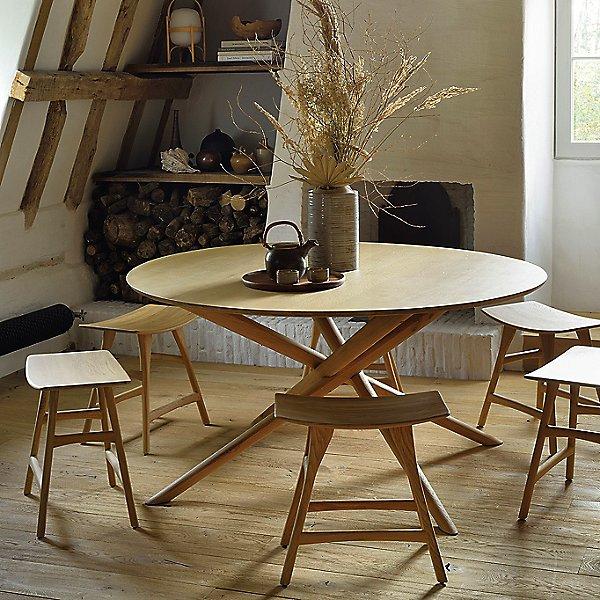 Oak Mikado Round Dining Table