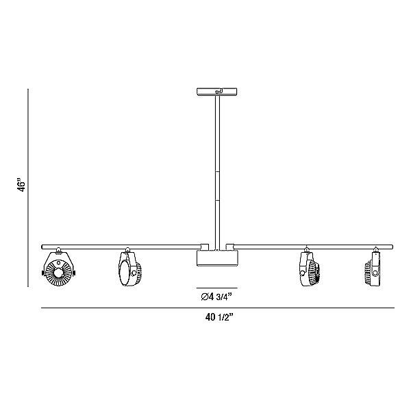 Leonida LED Linear Track Pendant Light