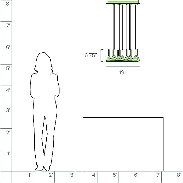 Battipaglia Round LED Multi-Light Pendant Light