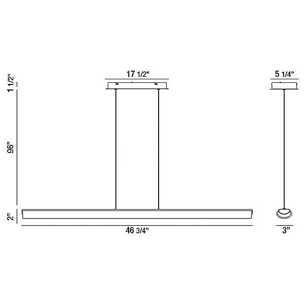 Greco LED Linear Suspension Light