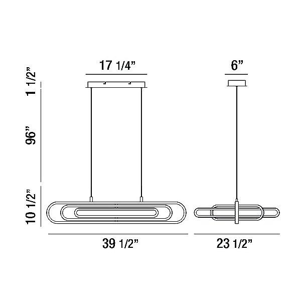 Isernia LED Linear Suspension Light
