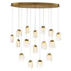 Parma LED Oval Multi-Light Pendant Light