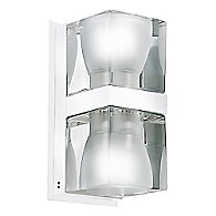 Cubetto 2 Light Wall Sconce (Chrome/Crystal) - OPEN BOX