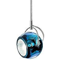 Beluga Color One Light Pendant-D57A11 (Blue/Chrome)-OPEN BOX