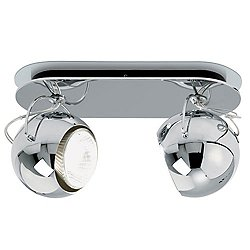 Beluga Steel Two Light Ceiling or Wall Light - D57G23