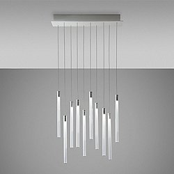 Tooby 10 Light Rectangular Multispot Pendant