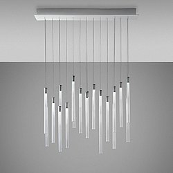 Tooby 20 Light Rectangular Multispot Pendant