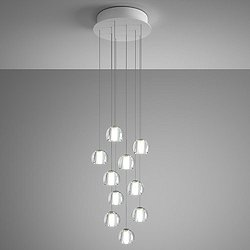 Beluga 10 Light Round Multispot Pendant