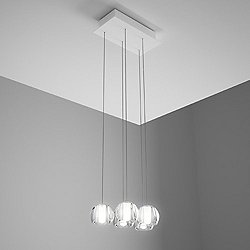 Beluga 5 Light Rectangular Multispot Pendant
