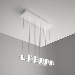 Beluga 10 Light Rectangular Multispot Pendant