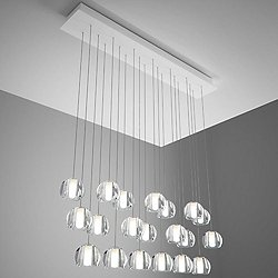 Beluga 20 Light Rectangular Multispot Pendant