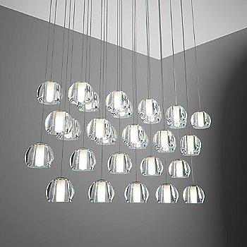 Beluga 30 Light Rectangular Multispot Pendant