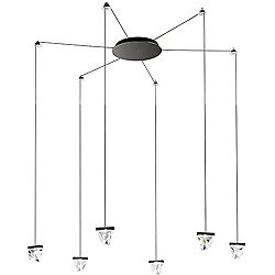 Tripla 6 Light LED Ceiling Wall Suspension System