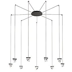 Tripla 9 Light LED Ceiling Wall Suspension System